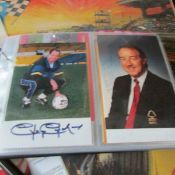 An album of approximately 150 autographed football photographs.
