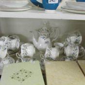 37 pieces of Royal Albert Brigadoon pattern tea ware.