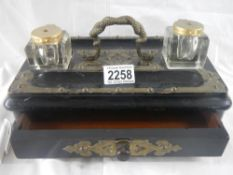 A good early 20th century inkstand in good original order.