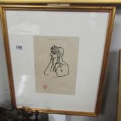 A Pablo Picasso (1881-1973) print 'Comedie Humaine', stamped and signed in pencil.