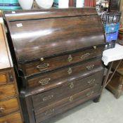 A Victorian mahogany bureau.