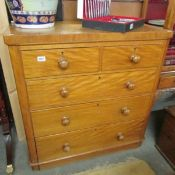 A Victorian 2 over 3 chest of drawers.