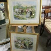 A pair of framed and glazed Edouard Devat-Ponsan (French 1847-1913) lithographic prints entitled