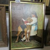 An original oil painting signed Gilbert Jeffries.