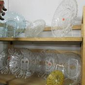 4 1887 Victorian Jubilee glass plates, a Gladstone glass plate,