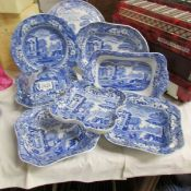 A mixed lot of Spode 'Italian' dishes and platters.