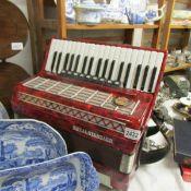 A Royal Standard piano accordion.