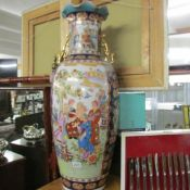 A large 20th century Chinese vase.