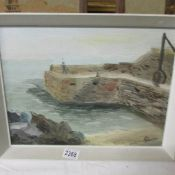 A 1968 pallet knife oil on board of Lamorna Cove, Cornwall, signed J.C. Wooton.