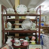 26 pieces of Colclough Ivy pattern teaware together with other assorted tea cups and saucers etc.
