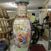 A large 20th century Chinese vase. Vase measures approx 90cm high.