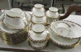 Approximately 55 pieces of Royal Crown Derby Keddleston pattern tea and dinner ware,