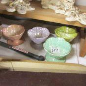 4 Beswick coloured lustre ice cream bowls.