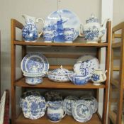 A mixed lot of blue and white including Royal Grafton, Wood & Sons, Johnson Bros etc.