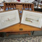 A pair of framed and glazed watercolours signed G M Avondale.