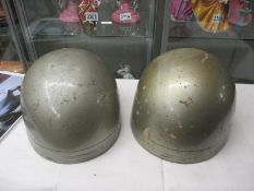 Original motorcycle helmets as worn by champion rider Ray Watmore Avon 1965 at Castle Coombe