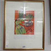 A Henri Matisse (1869-1954) pencil signed lithographic print entitled 'Jeune Fille En Vert Dans