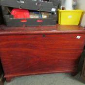 A large antique pine box