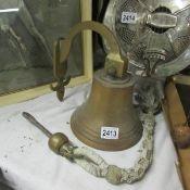 An old brass bell.