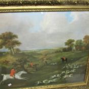 A framed and glazed hunting print (image 64.