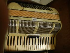 An L Busk Acchio accordion in very good condition and working order.
