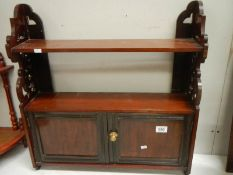 A good mahogany 2 door wall hanging cabinet in good condition.