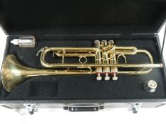 An un-named brass trumpet in good working order and complete.
