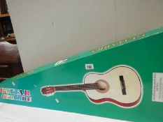 A new boxed guitar.