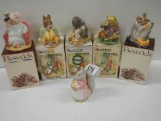 6 Beatrix Potter figurines.