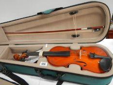 A cased Antoni violin, in perfect condition.