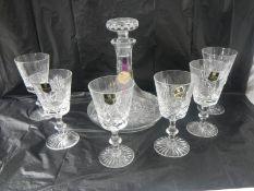 An Edinburgh crystal decanter and a set of 6 Edinburgh crystal glasses.