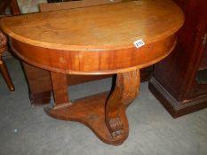 A mahogany duchy style hall table.