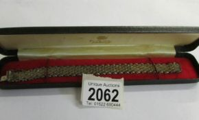 A Milor Italian silver bracelet in two tone colour.
