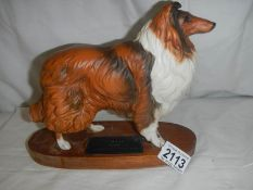 """A Beswick rough collie dog, in good condition, 9.5"""" long x 8"""" tall, in good condition."""