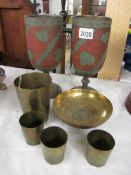 A pair of good Indian vases and other items.