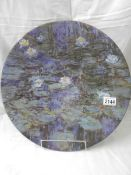 A large Goebel Artis Orbis wall plaque 'Claude Monet Nympheas III', limited edition, 99/1000,