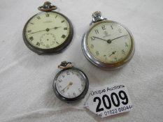 3 pocket watches.