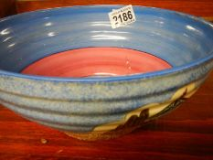 A Clarice Cliff Bizarre bowl, a/f.