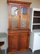 A Victorian mahogany 2 door bookcase.