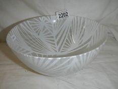 A Giles & Jones Rossdale 1998 art glass bowl.