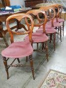 A set of 5 mahogany framed bedroom chairs.