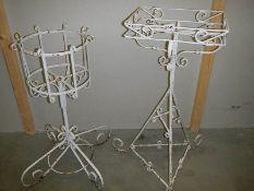 2 items of garden ironwork,