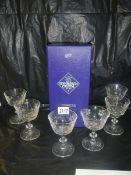 An Edinburgh crystal decanter and 6 glasses.