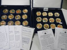 2 cases of Diana Princess of Wales commemorative coins.