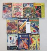 A good collection of 10 early Sci-Fi pulp magazines books including The Avenging Martian,