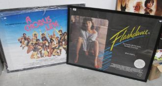 2 framed film movie posters Flashdance and A Chorus Line