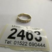 A 9ct gold hall marked ring, stone set, Birmingham 1978, size M.