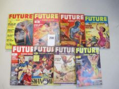 A good collection of 8 Future Science Fiction pulp magazines