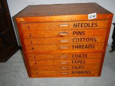 A Clark & Co., Anchor Mill, 8 drawer cabinet.