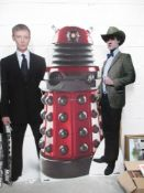 A collection of three tall standee Dr Who characters including Dalek (181cm high approx),